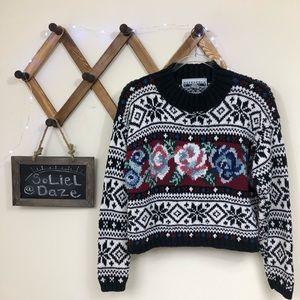 Vintage | Knit crew neck sweater